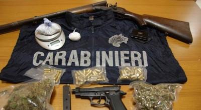 foggia-via-napoli-armi-e-droga-in-casa-un-arresto-carabinieri-Cronaca