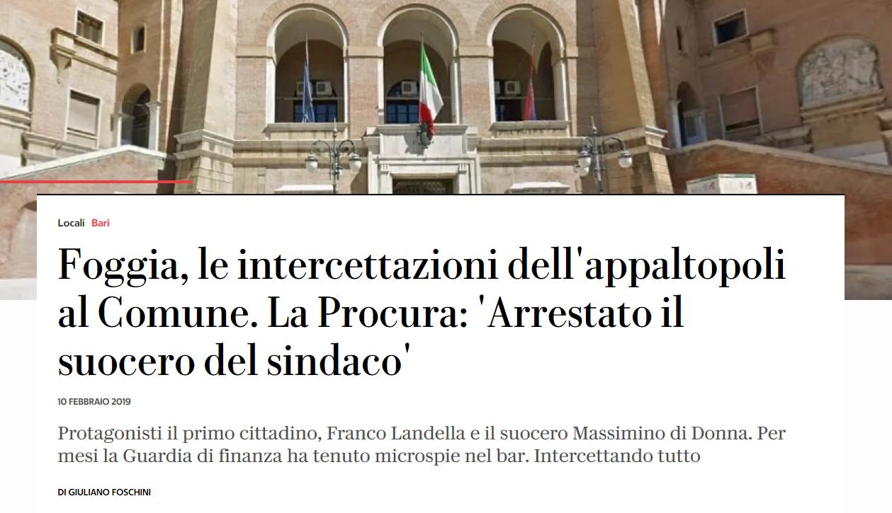 Inchiesta Suocero Massimo Di Donna Landella Querela Repubblica