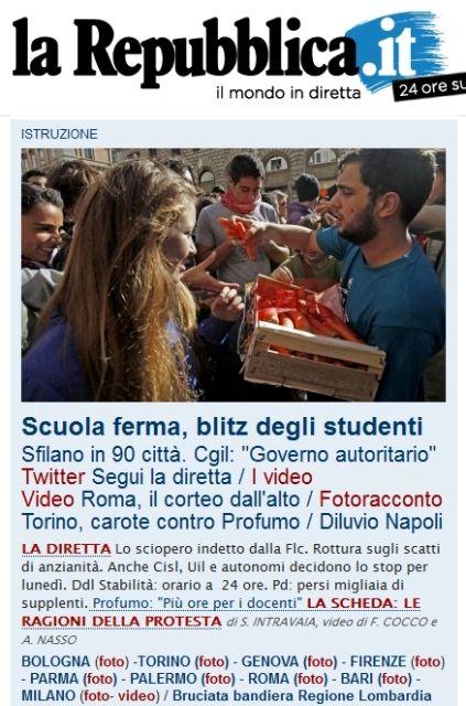 Uno studente foggiano nella home page di for Home page repubblica