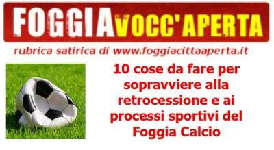 Foggia Calcio Satira Retrocessione
