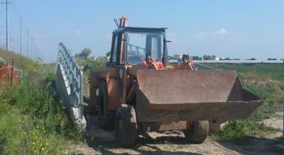 Escavatore Polizia Ferroviaria