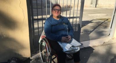 Protesta mamma figlio disabile