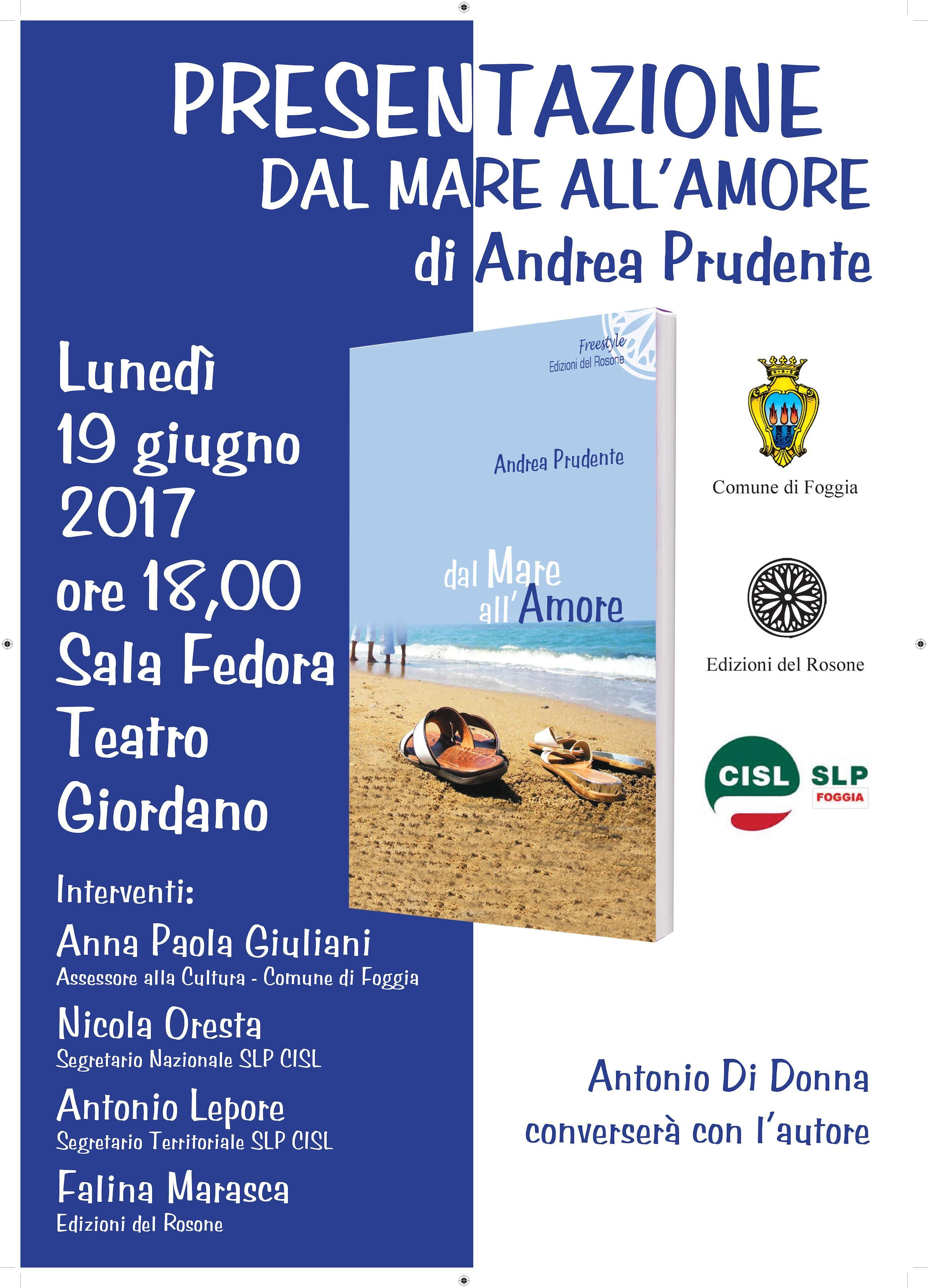 Dal Mare all amore teatro Giordano Foggia presentazione ...